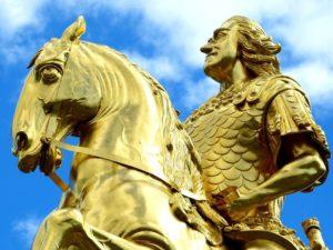 kung på häst